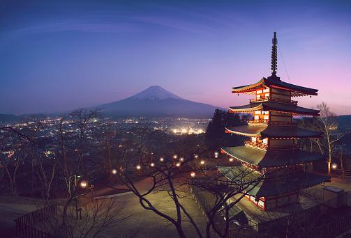 Satoyama - Scenery「Mount Fuji View at sunset」:スマホ壁紙(7)