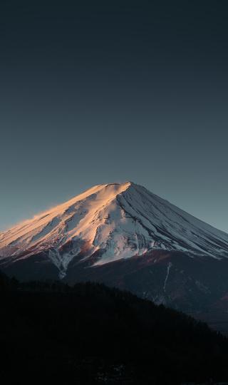 Mt Fuji「Mount Fuji under dramatic blue sky.」:スマホ壁紙(0)