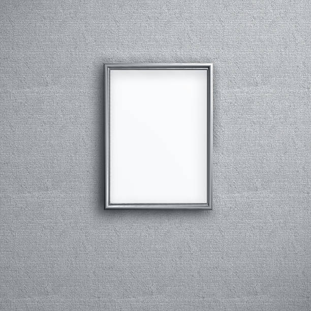 Empty picture frame hanging on a wall:スマホ壁紙(壁紙.com)