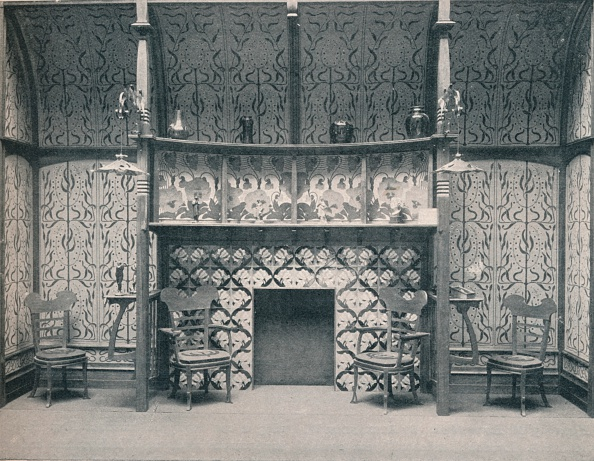 Mantelpiece「Ingle-Nook designed by G. Serruier, 1898. Artist: Gustave Serrurier-Bovy」:写真・画像(19)[壁紙.com]