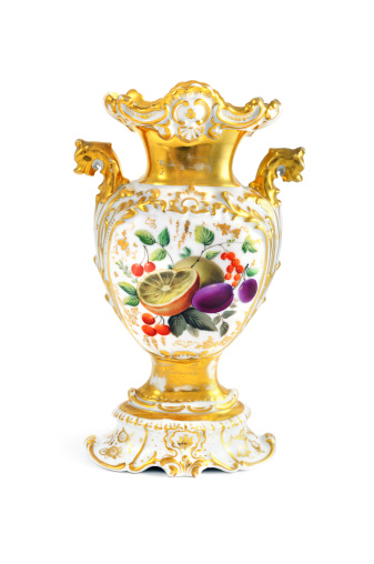 Bunting「antique biedermeier (time 1815-1840) vase with fruits like plum lemon」:スマホ壁紙(17)