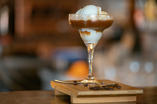 Coffee - Drink「Coffee with ice cream.」:スマホ壁紙(6)