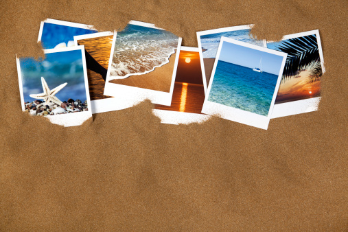 Instant Print Transfer「Vacation photos on the sand」:スマホ壁紙(10)