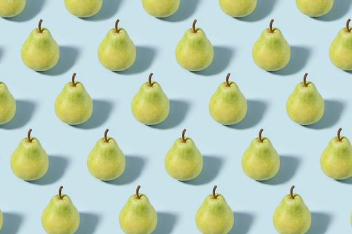 Pear「Green Pears on Soft Blue Background」:スマホ壁紙(16)