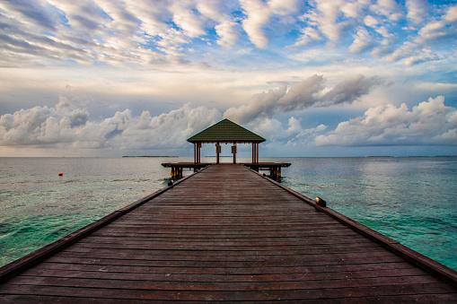 モルディブ「モルディブ巻積雲雲」:スマホ壁紙(5)