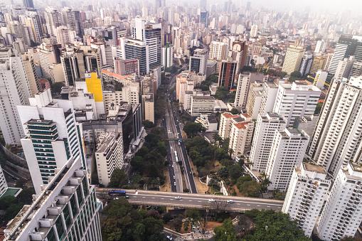 Avenue「Avenida Nove de Julho in Sao Paulo city, Brazil」:スマホ壁紙(11)