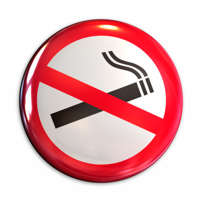 No Smoking Sign「No smoking badge」:スマホ壁紙(2)