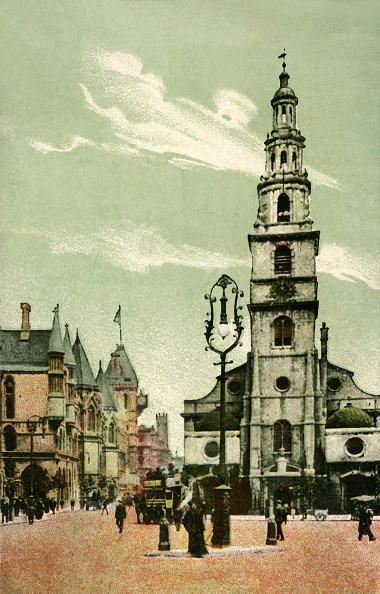Hand Colored「St Clement Danes」:写真・画像(13)[壁紙.com]
