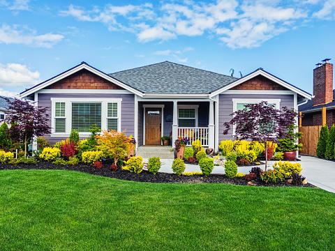 American Culture「Modern Custom Suburban Home Exterior」:スマホ壁紙(9)