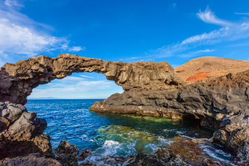 Atlantic Islands「Natural Stone Arch Charco Manso, El Hierro, Canary Islands」:スマホ壁紙(17)