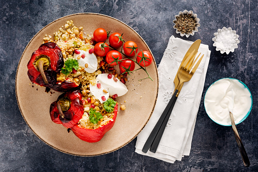 Pine Nut「Roasted and Stuffed  Peppers with Couscous and Yoghurt」:スマホ壁紙(17)