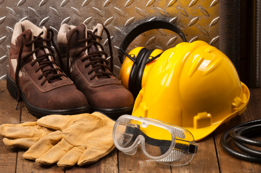 Shoe「Personal protective workwear on the floor」:スマホ壁紙(1)