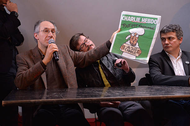 Charlie Hebdo Press Conference At Liberation In Paris:ニュース(壁紙.com)