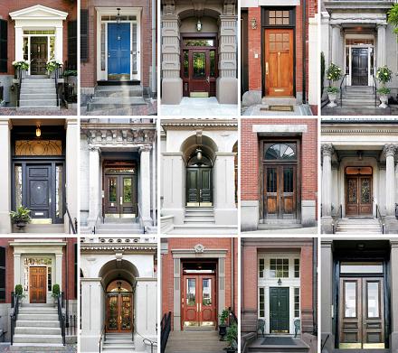 Closed「Fifteen photos of front doors on a grid 」:スマホ壁紙(6)