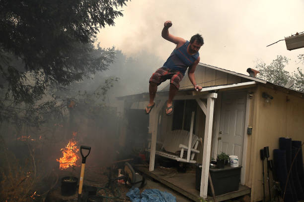 California「Multiple Wildfires Destroy Homes, Threaten California Wine Country」:写真・画像(14)[壁紙.com]