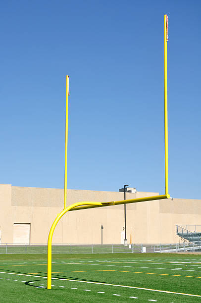 Yellow Goal Posts on American Football Field:スマホ壁紙(壁紙.com)