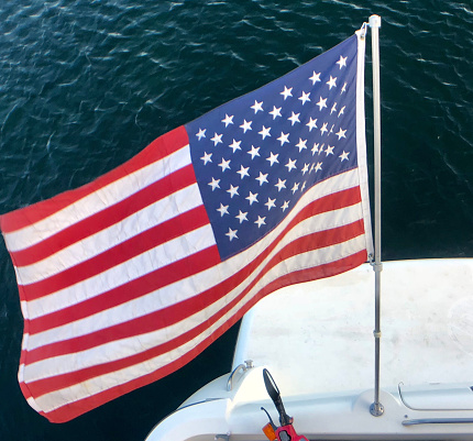 Great Lakes「USA Flag on Yacht    Lake Superior」:スマホ壁紙(15)