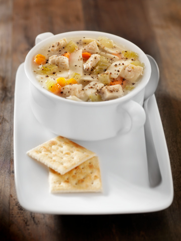 Celery「Chunky Chicken Noodle Soup with Saltine Crackers」:スマホ壁紙(2)
