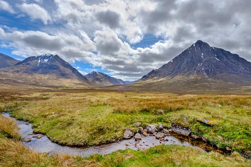月「グレンコー、スコットランドのハイランド地方 - スコットランド」:スマホ壁紙(11)