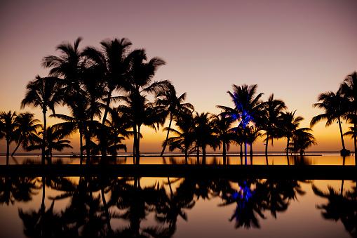 インド洋「夕暮れのパラダイス」:スマホ壁紙(0)