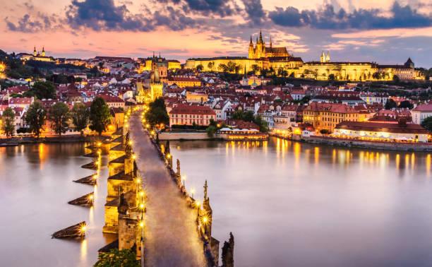 Sunset in Prague:スマホ壁紙(壁紙.com)
