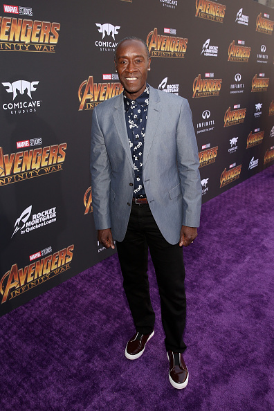 ドン チードル「Los Angeles Global Premiere for Marvel Studios' 'Avengers: Infinity War'」:写真・画像(6)[壁紙.com]