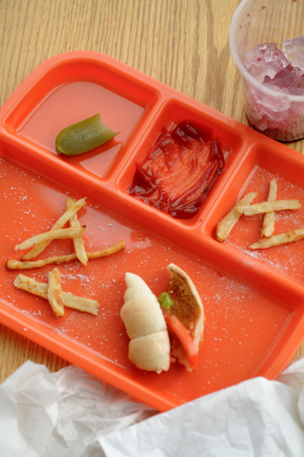 Fast Food French Fries「Lunch tray with food remains」:スマホ壁紙(16)
