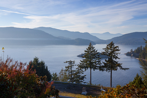 British Columbia Coast Mountains「View of Howe Sound West Vancouver」:スマホ壁紙(5)