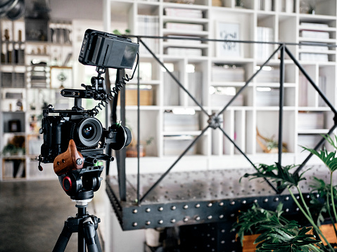 Tripod「Camera Equipment in a Shared Office Workspace Interior」:スマホ壁紙(12)