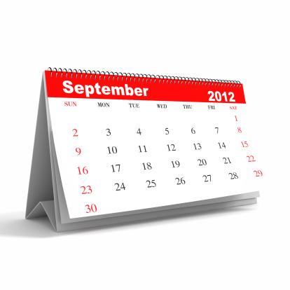 月「2012 年 9 月のカレンダーシリーズ」:スマホ壁紙(7)