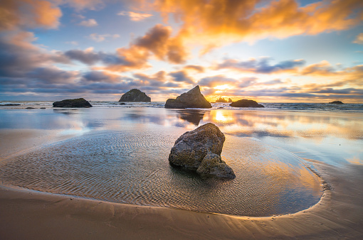 Rock Music「Bandon, Oregon Sea Stacks」:スマホ壁紙(7)