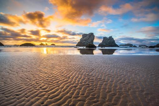 Rock Music「Bandon, Oregon Sea Stacks」:スマホ壁紙(18)