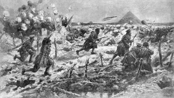 Exploding「A British attack using the bayonet and grenade, Neuve-Chapelle, France, 10 March 1915, (1926).Artist: Frederic Villiers」:写真・画像(4)[壁紙.com]