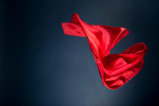 Silk「Floating red satin on a dark blue background」:スマホ壁紙(11)