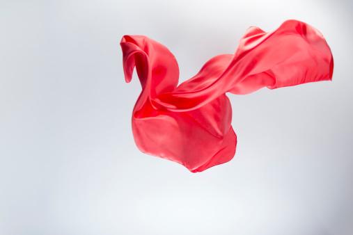 Silk「Floating red silk on a bright background」:スマホ壁紙(2)