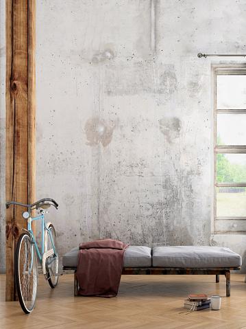 Art「Apartment interior blank wall template」:スマホ壁紙(1)