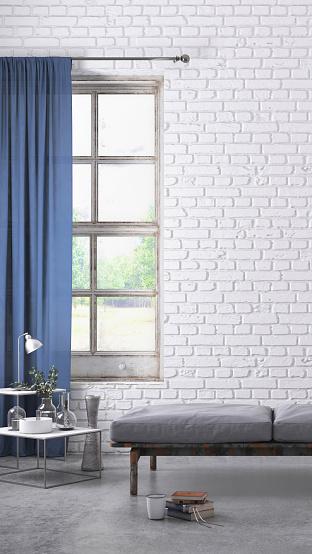 Template「Apartment interior blank wall template」:スマホ壁紙(17)