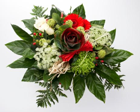 Bouquet「Rose flower bouquet from above」:スマホ壁紙(15)