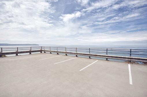 Parking Lot「Open carpark overlooking the sea」:スマホ壁紙(16)