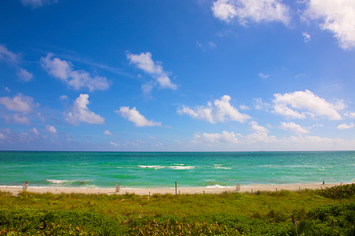 Miami Beach「View of blue ocean, Miami Beach」:スマホ壁紙(4)