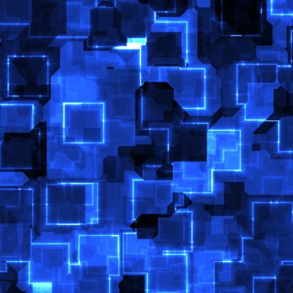 Cyber-「cyber blue」:スマホ壁紙(19)