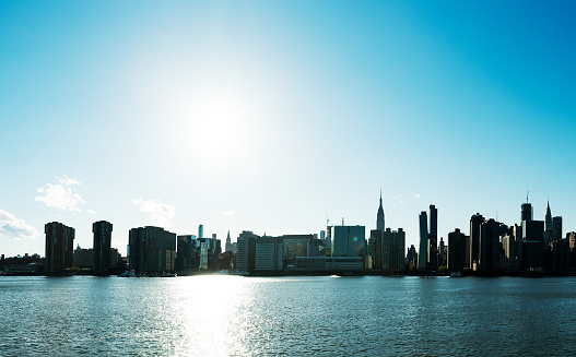 Cityscape「Midtown Manhattan and Empire States Building across the East River from Brooklyn」:スマホ壁紙(8)