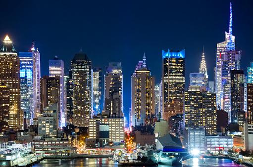 ロイヤリティフリー ニューヨーク 夜景 壁紙