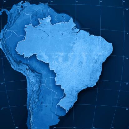 Latitude「Brazil Topographic Map」:スマホ壁紙(2)