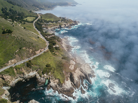 Big Sur「Aerial of Highway One in California」:スマホ壁紙(9)