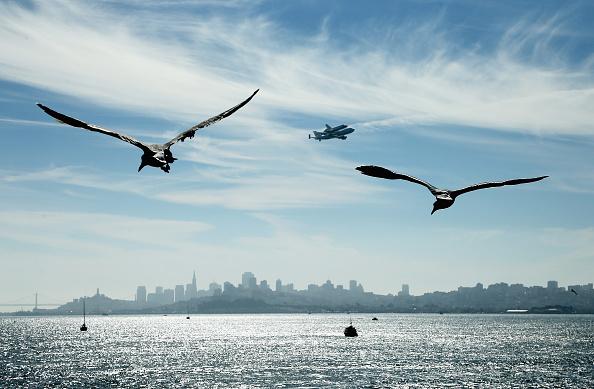 Space Shuttle Endeavor「Space Shuttle Endeavour Makes Pass Over Bay Area Before Final Landing In LA」:写真・画像(3)[壁紙.com]