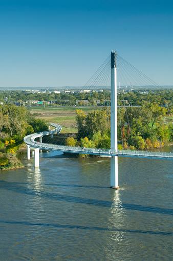 Footbridge「Bob Kerrey Pedestrian Bridge, Missouri River, Omaha, Nebraska」:スマホ壁紙(8)