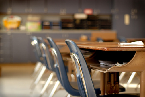 Elementary School Building「Empty Classroom」:スマホ壁紙(3)