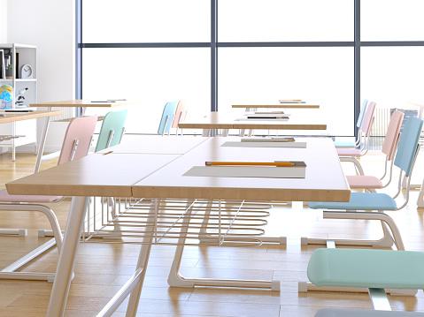 Elementary School「Empty classroom」:スマホ壁紙(19)