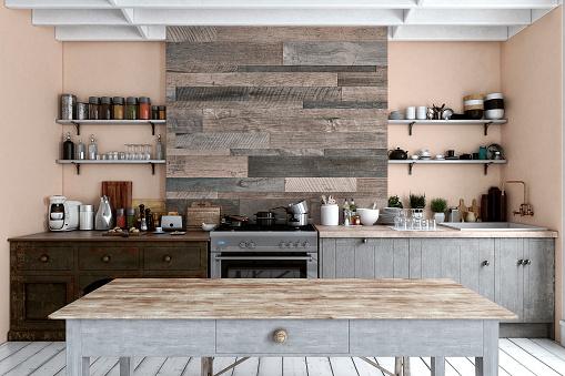 Bakery「Empty classic kitchen」:スマホ壁紙(17)